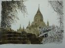 Unter den Bäumen von Bagan